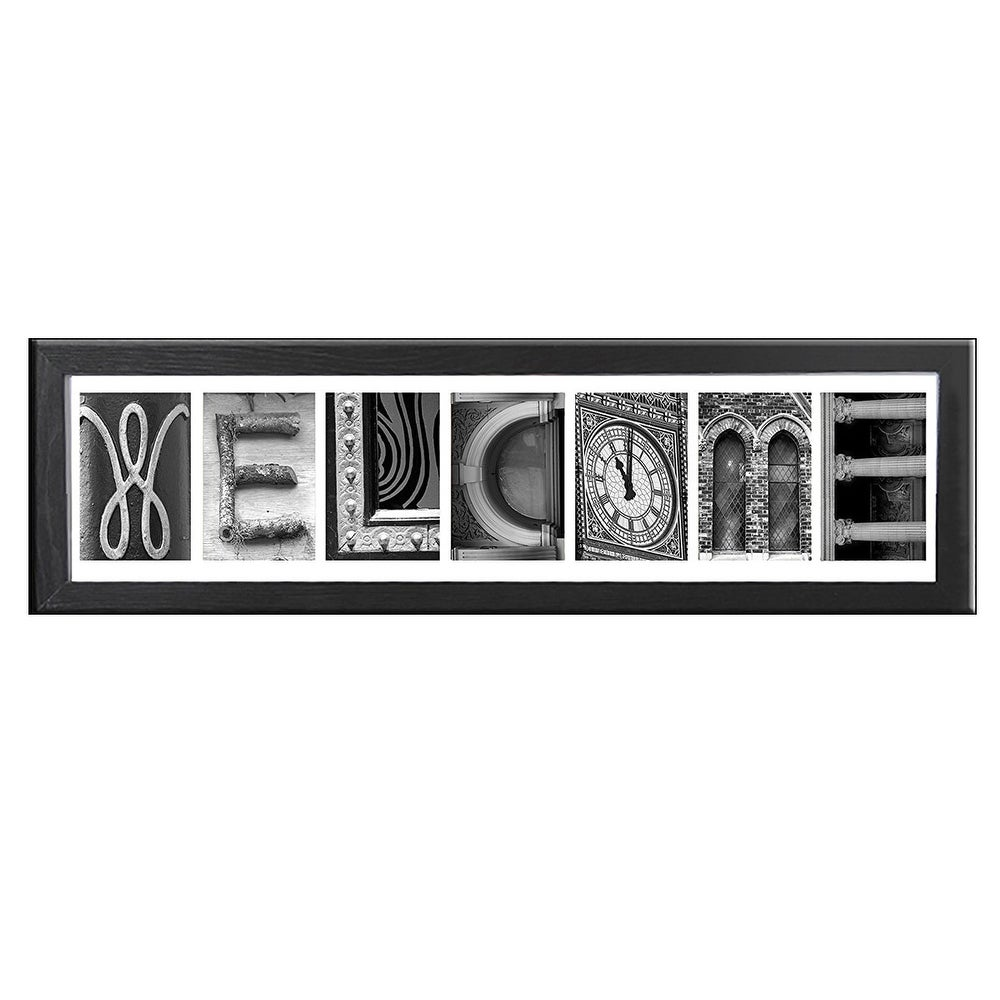 Shop Creative Personalized Imagine Letter Art Frame With X Inch