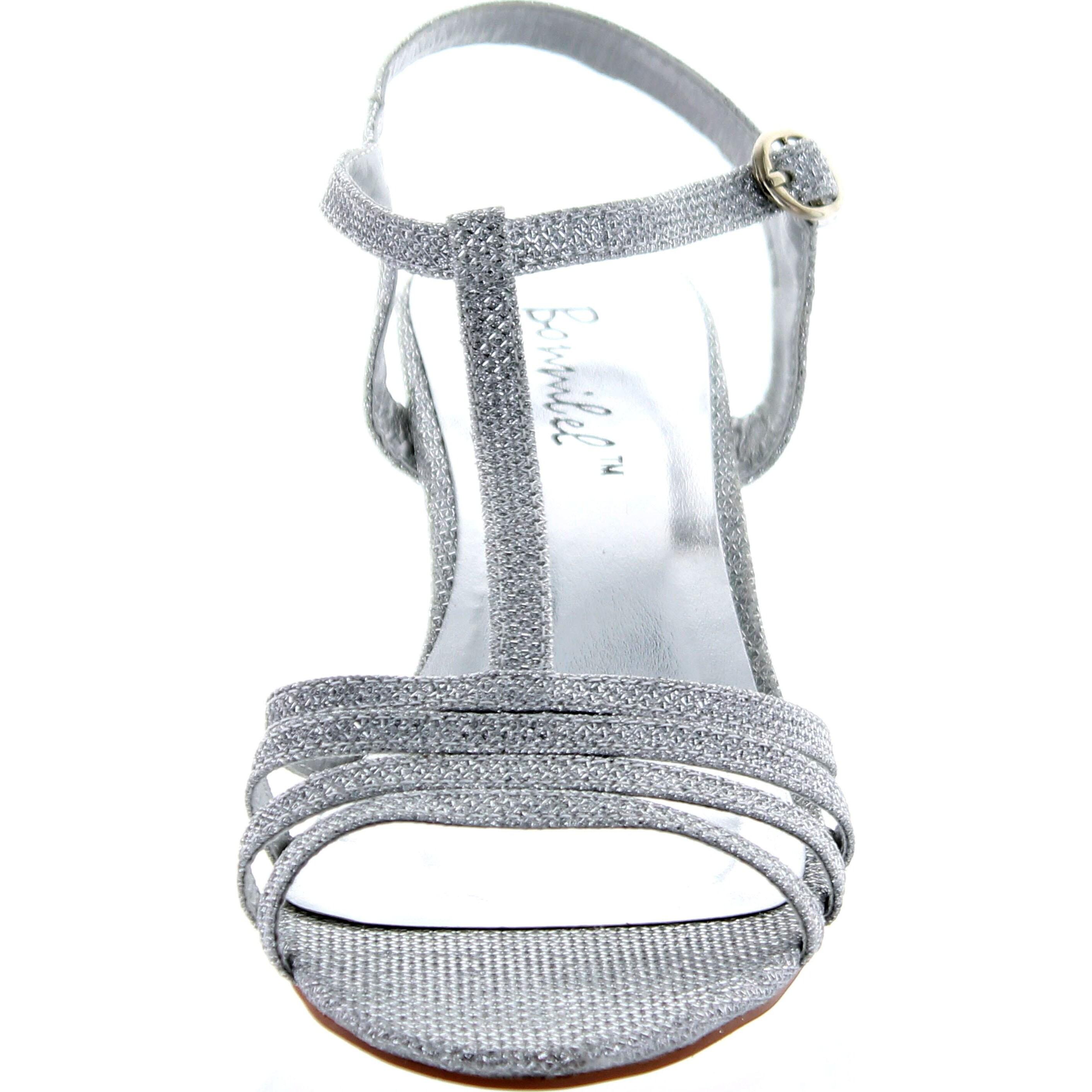 8ca0a2755d1 Shop Bonnibel Womens Flosa-1 Glitter T Strap Wedge Dress Sandals - Ships To  Canada - Overstock.ca - 14312257