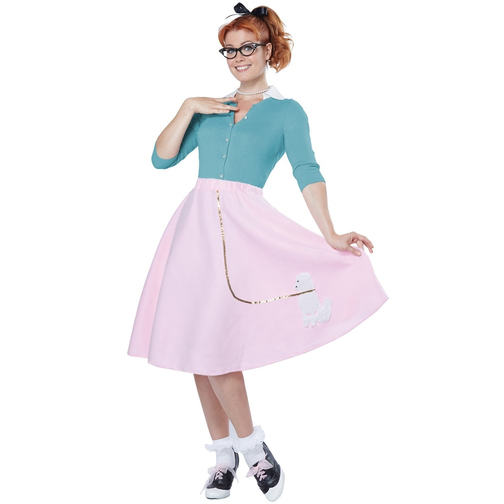 99200cf09821 Shop California Costumes Poodle Skirt Adult Costume - Pink - Free Shipping  On Orders Over $45 - Overstock - 15316086