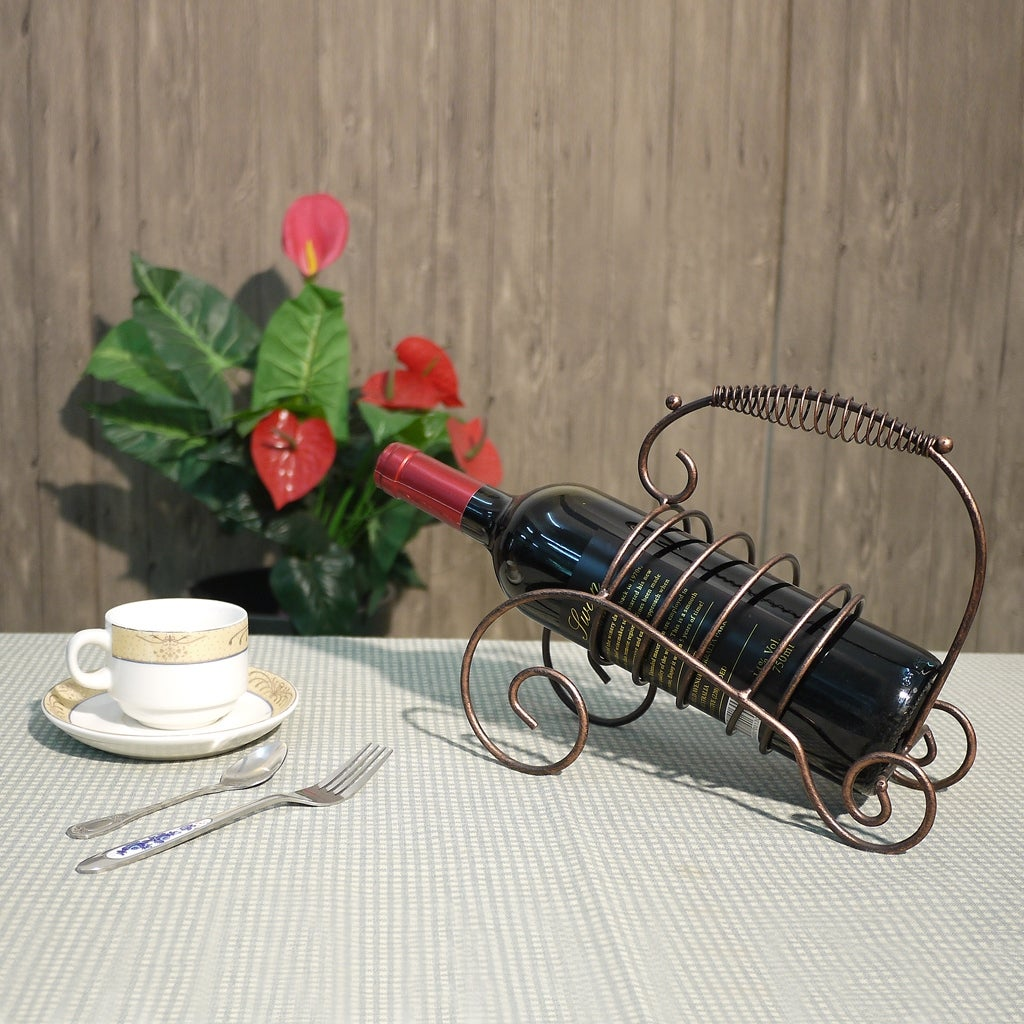 Shop 1 Bottle Tabletop Wine Bottle Holder Decorative Wine Rack