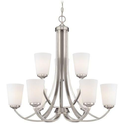 Minka Lavery 4969 9 Light 2 Tier Chandelier from the Overland Park Collection