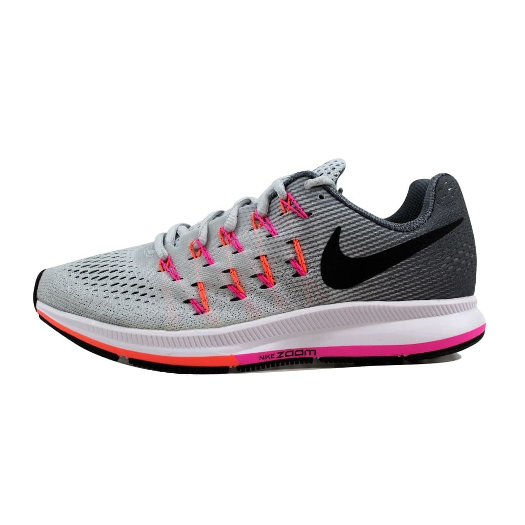 389523c0aaf7 Shop Nike Women s Air Zoom Pegasus 33 Pure Platinum Black-Cool Grey 831356- 006 - Free Shipping Today - Overstock - 21893764