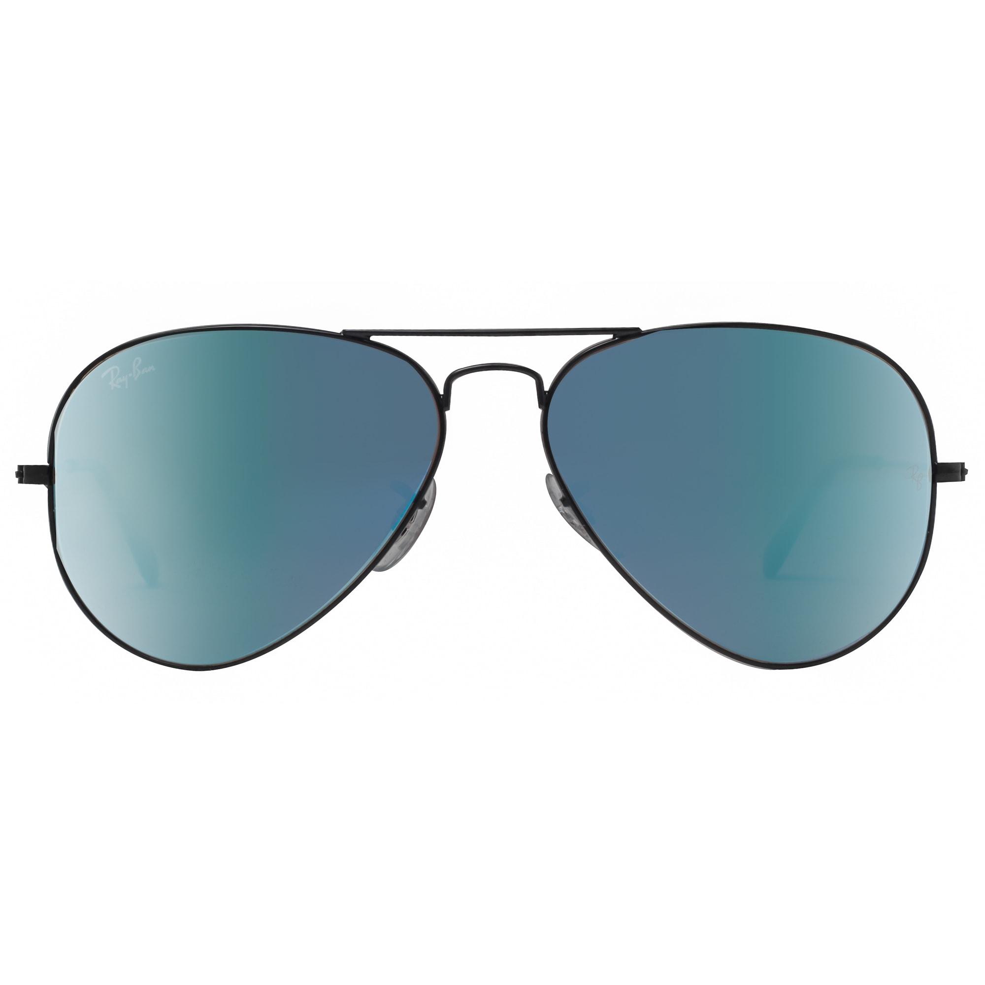 81eb6e08bdca2 Shop Ray Ban RB3025 002 4O 58mm Black Blue Gradient Flash Aviator Sunglasses  - 58mm-14mm-135mm - Free Shipping Today - Overstock.com - 18794051