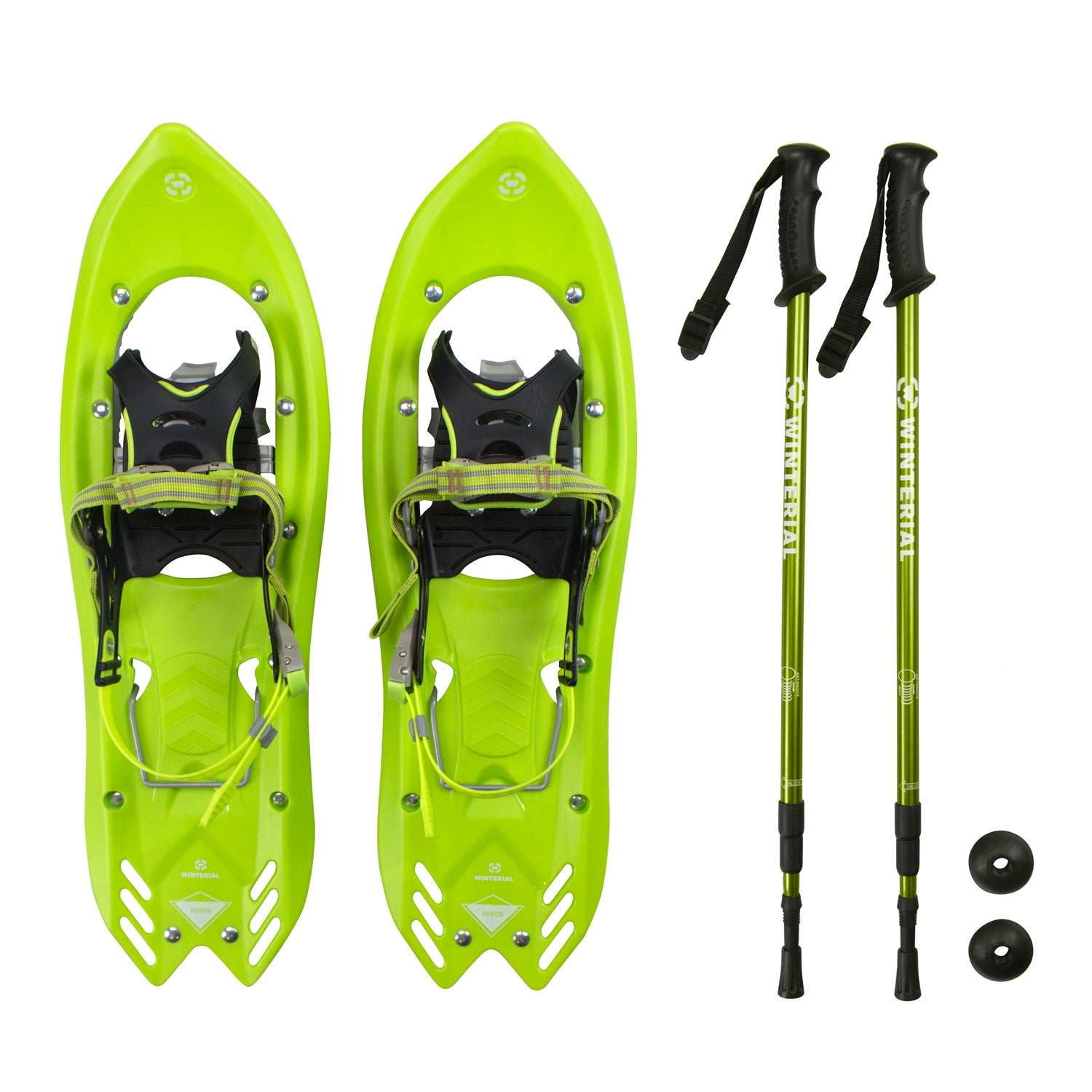 80bcc9146de6 Shop Winterial Yukon Snowshoes 25 Inch Lightweight All Terrain Green Snow  Shoes with Carry Bag and Adjustable Poles - Free Shipping Today - Overstock  - ...