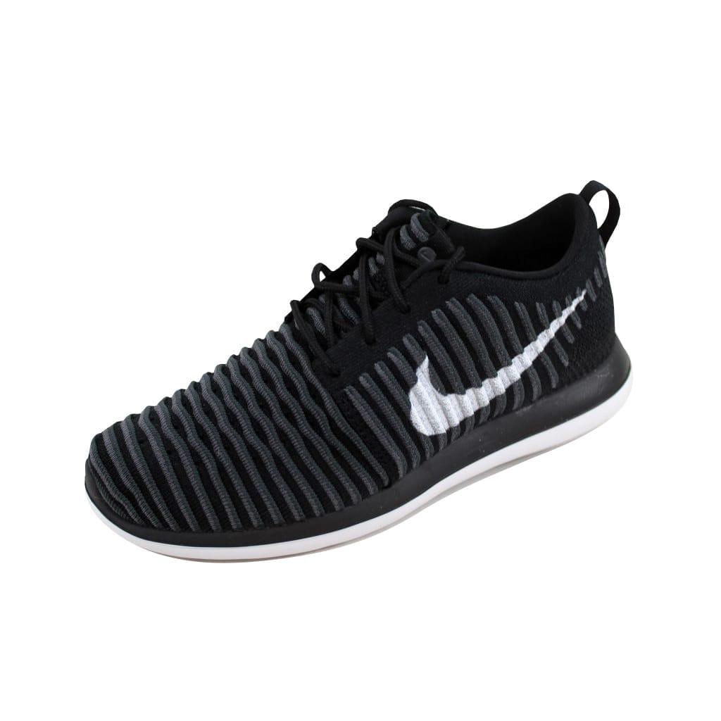 Nike Grade-School Roshe Two Flyknit Black White-Anthracite-Dark Grey  844619-001 Size 5Y dcd78c784dcd