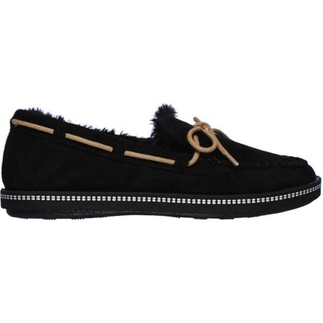 ba6a6ee29c87 Shop Skechers Women s Cozy Campfire Toasty Ties Moccasin Black - Free  Shipping Today - Overstock - 25594914