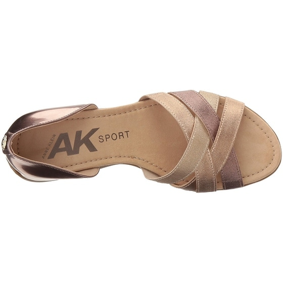 684b41496073 Shop AK Anne Klein Sport Women s Keira Synthetic - metallic light bronze -  Free Shipping Today - Overstock - 19874055
