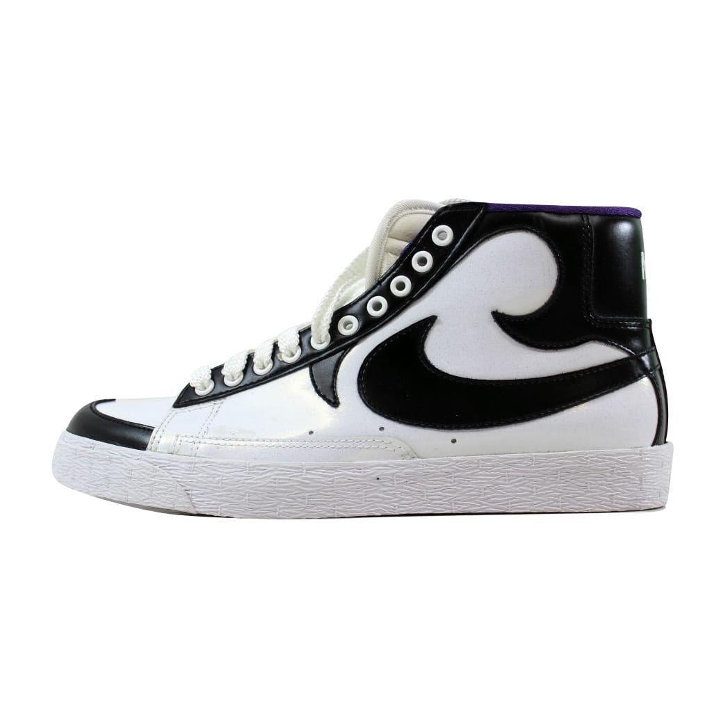 official photos 42ec5 acd10 Shop Nike Men s Blazer High White Black-Club Purple 315877-100 Size 8.5 -  Free Shipping On Orders Over  45 - Overstock - 21141878