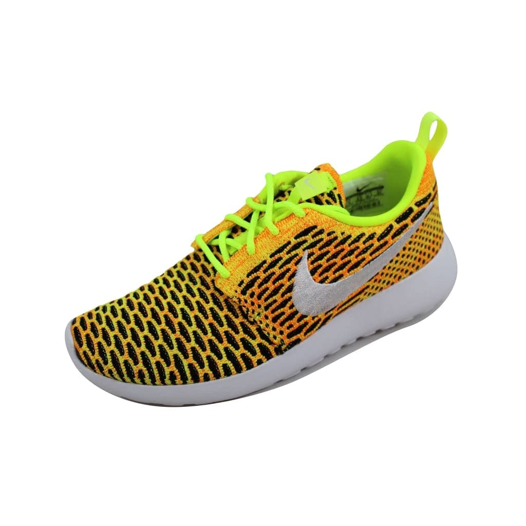 buy online f9b75 318c0 Shop Nike Roshe One Flyknit Volt White-Total Orange-Black 704927-702 Women s  - On Sale - Free Shipping Today - Overstock - 21893653