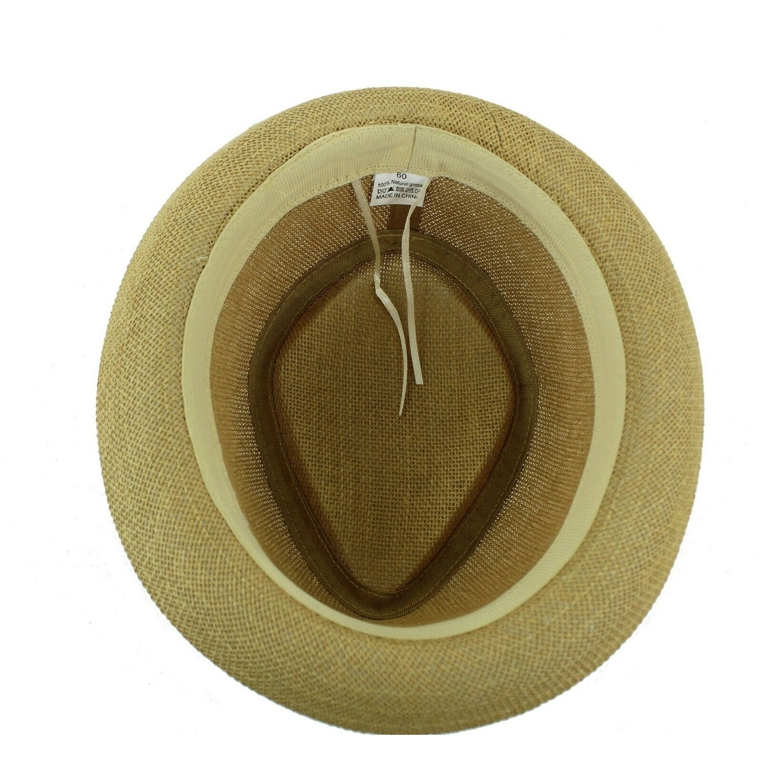 e723d6b796ea5 Shop Straw Fedora Hat Trilby Cuban Cap Summer Beach Panama Short Brim Men  Women - On Sale - Free Shipping On Orders Over  45 - Overstock - 27988858