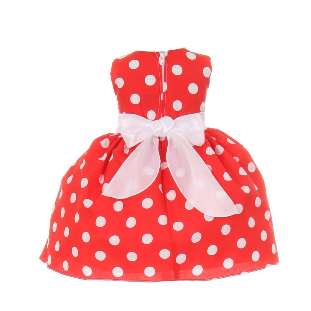 37c29771d Shop Baby Girls Red White Polka Dot Bow Sash Headband Special ...