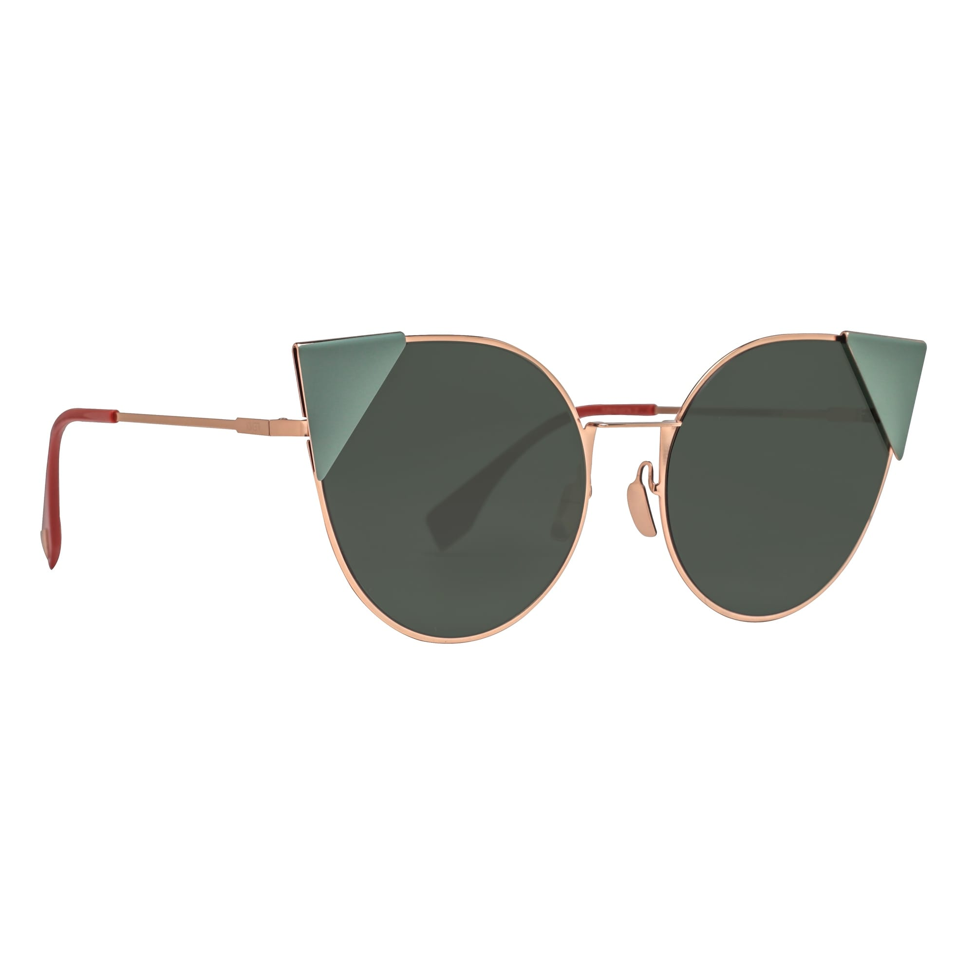 c9270da5ec Shop Fendi Lei FF 0190 S DDB07 Copper Gold Green Round Cat Eye Sunglasses -  gold copper - 57mm-19mm-140mm - Free Shipping Today - Overstock - 18656415