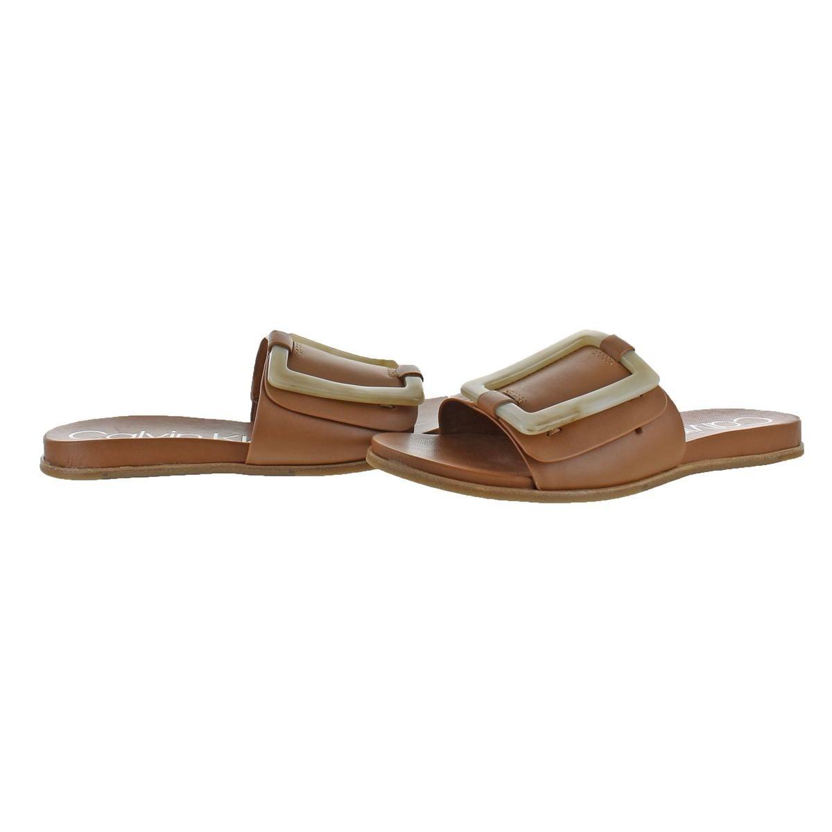 1d7525497cf1 Shop Calvin Klein Womens Patreece Slide Sandals Slide Summer - Free  Shipping Today - Overstock - 22312601