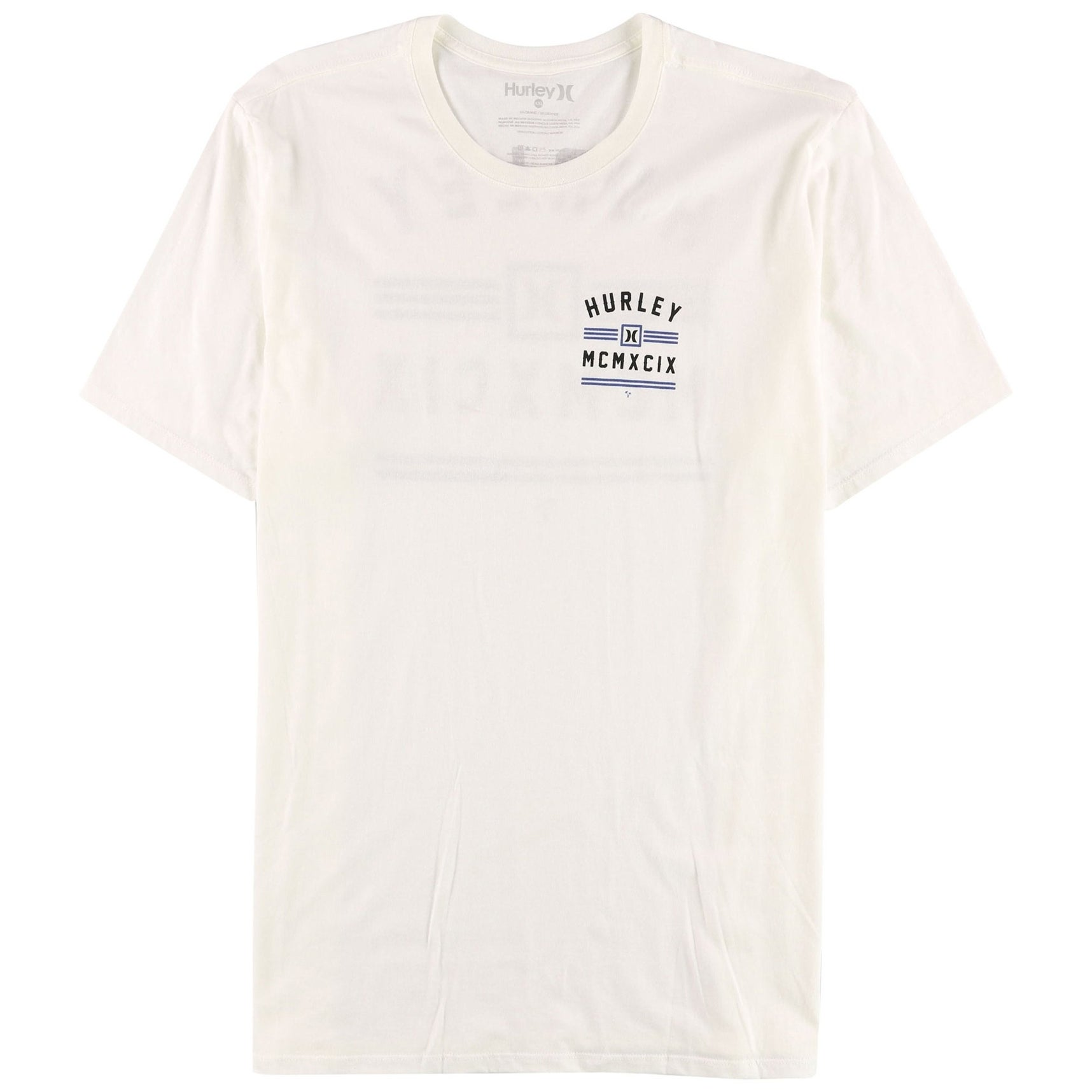 Shop Hurley New White Mens Size Xl Premium Mcmxcix Graphic Tee Shirt T Cotton Ships To Canada 21394918