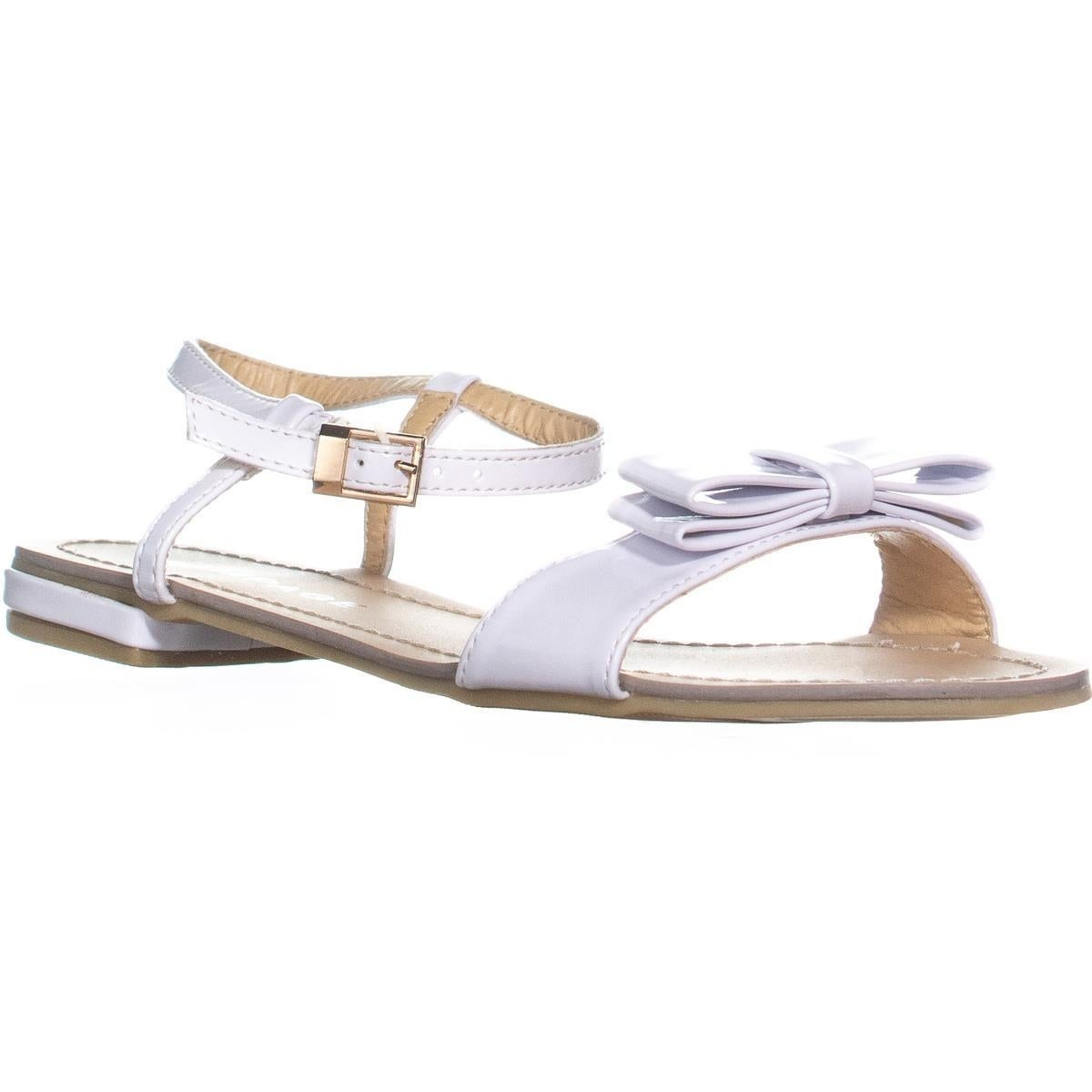 23a1bc1f41a Shop Rampage Rangler Bow Tie Ankle Strap Flat Sandals