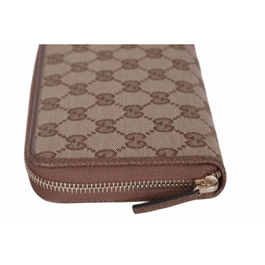 9d39f5a626920c Shop Gucci 363423 Women's GG Guccissima Canvas Zip Around Wallet Clutch -  7.75