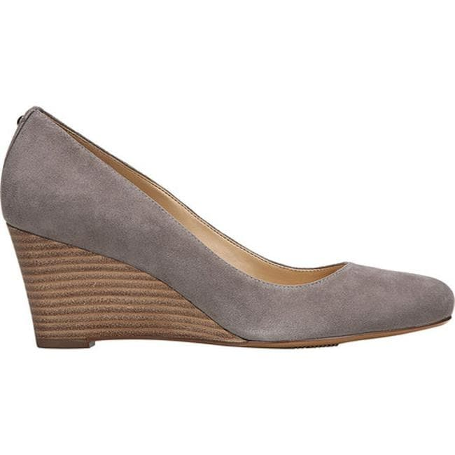 be977815982 Shop Naturalizer Women s Emily Wedge Modern Grey Suede - On Sale ...