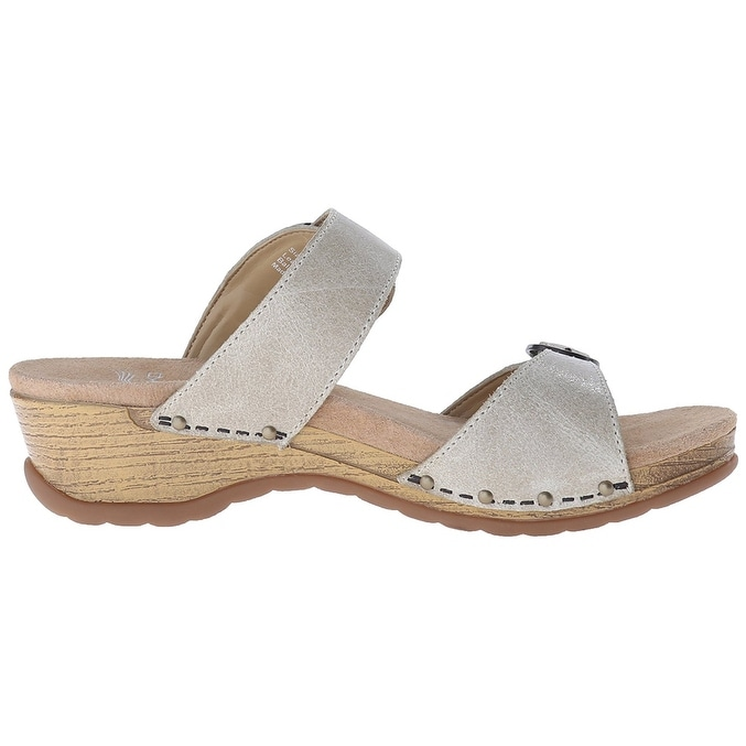 cfbcf9e62be6 Shop Dansko Womens Manda Leather Open Toe Casual Slide Sandals - Free  Shipping Today - Overstock - 22342750