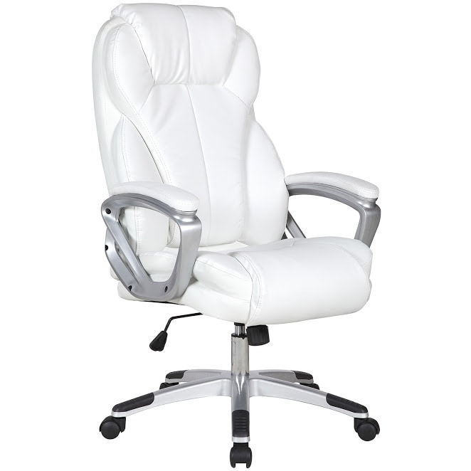 Shop 2xhome White Leather Deluxe Professional Ergonomic High Back