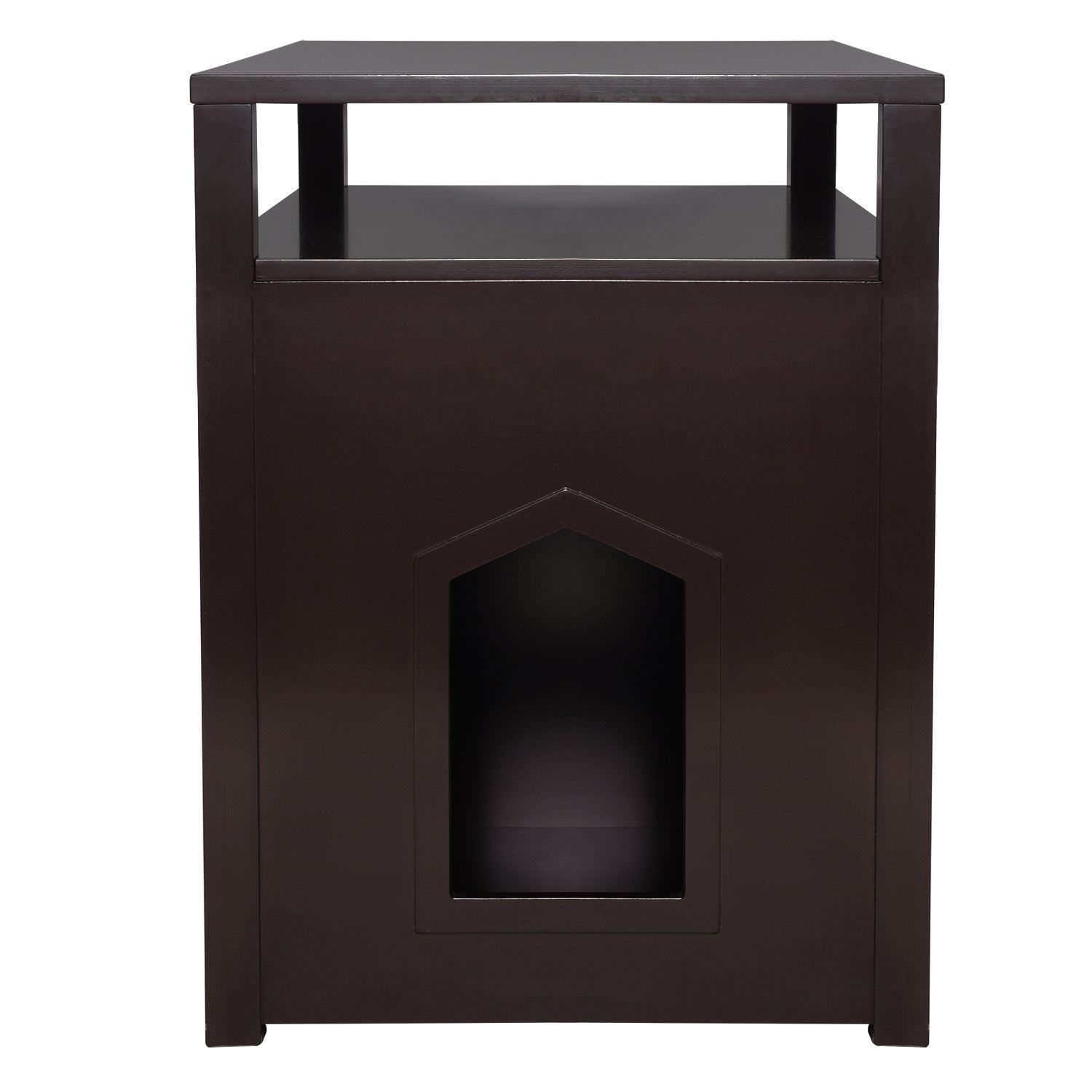 Shop Arf Pets Cat Litter Box Enclosure, Furniture Large Box House With  Table   Free Shipping Today   Overstock.com   20478401