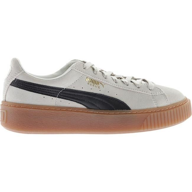 c46423c4bbf0 Shop PUMA Women s Suede Platform Sneaker Whisper White PUMA Black - On Sale  - Free Shipping Today - Overstock - 17778463