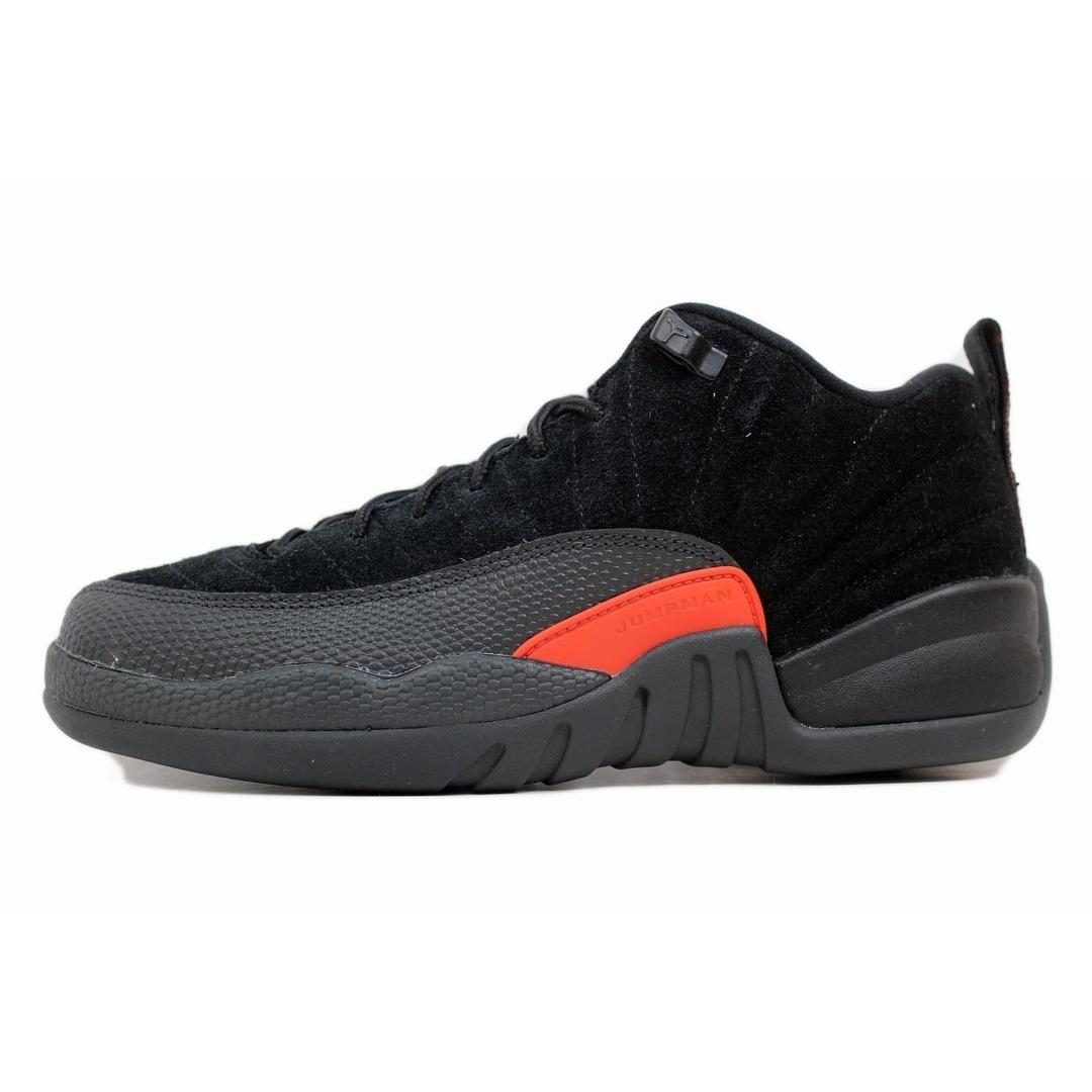 4048e1ed100 Shop Nike Grade School Air Jordan XII 12 Retro Low Black Max Orange-Anthracite  Max Orange 308305-003 - Free Shipping Today - Overstock - 20139297