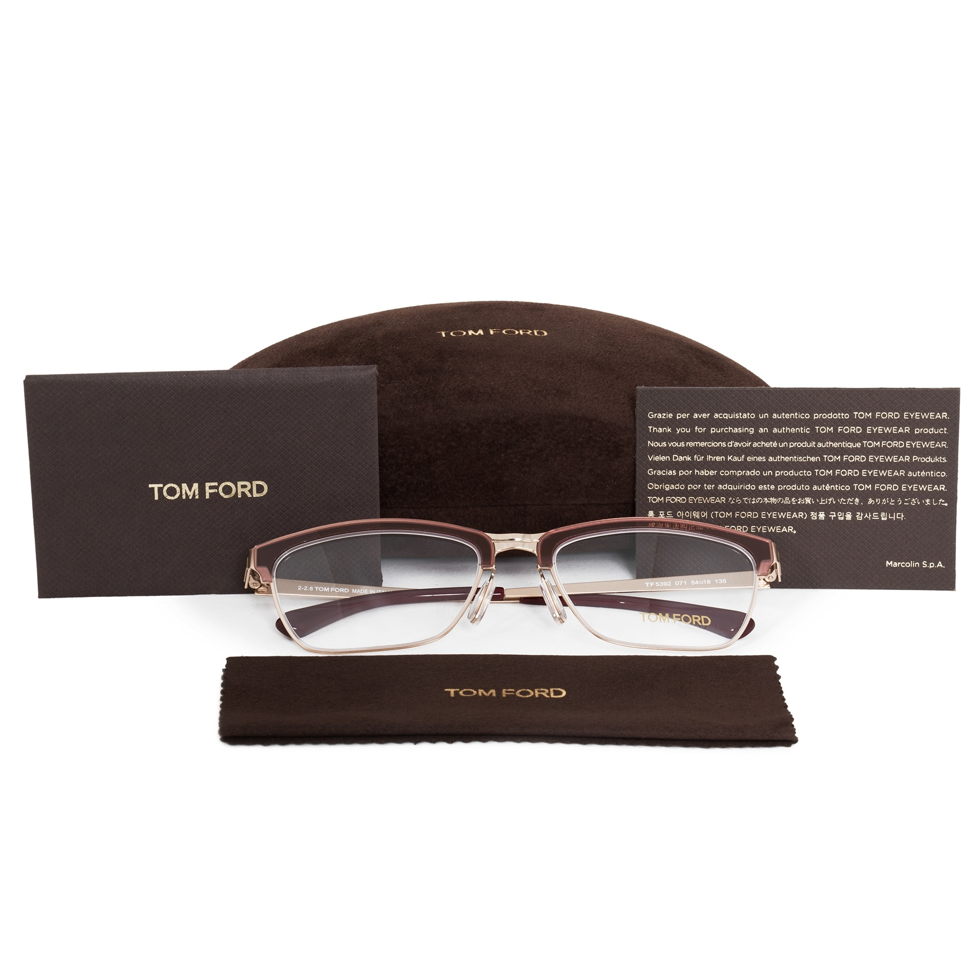 3ce36a2593427 Shop Tom Ford FT5392 071 54 Cat Eye