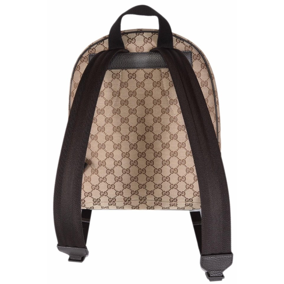 f75e3be8dfa56c Shop Gucci 449906 Beige Canvas GG Guccissima Backpack Rucksack Travel Bag -  Beige/Brown - Free Shipping Today - Overstock - 14266766