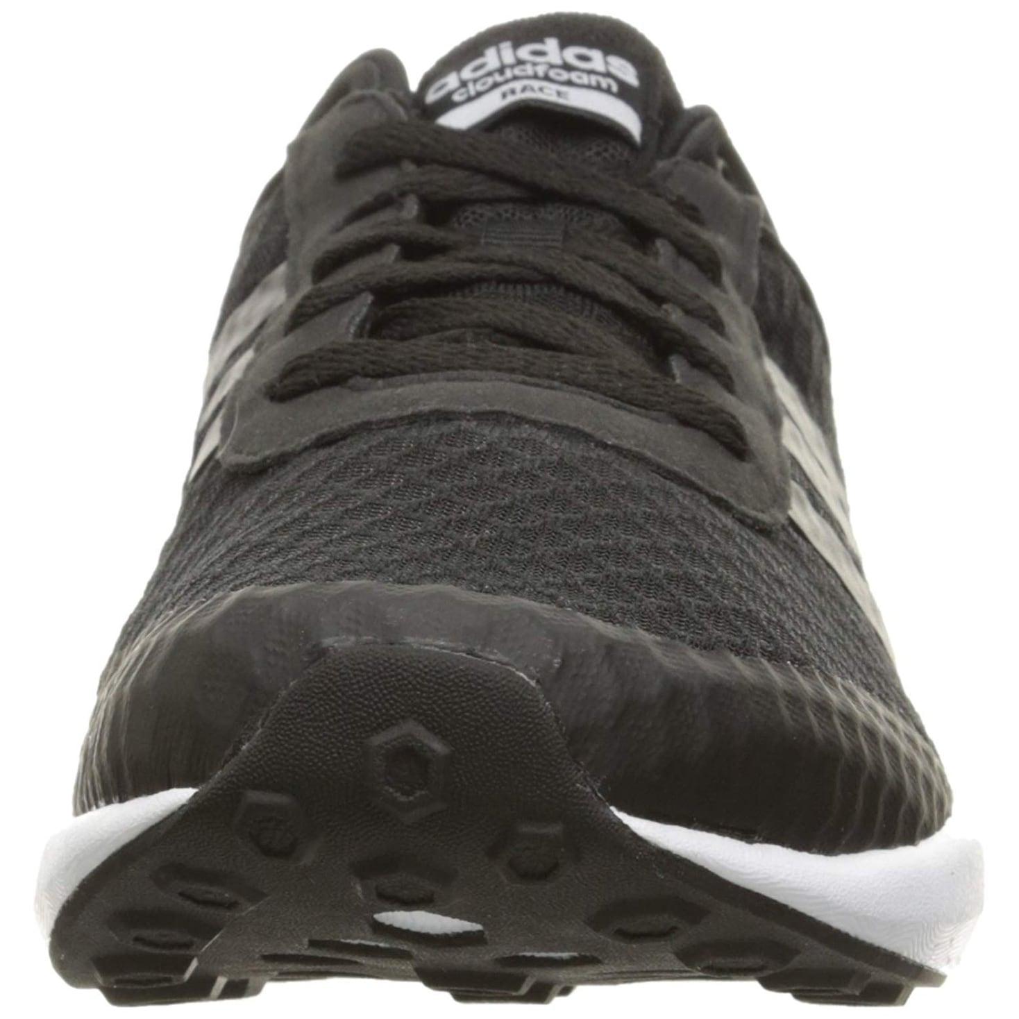 best service 726c9 2528a Shop Adidas Men s Cloudfoam Race Running Shoe, Black White, 8.5 D-Medium -  Free Shipping Today - Overstock - 25660254