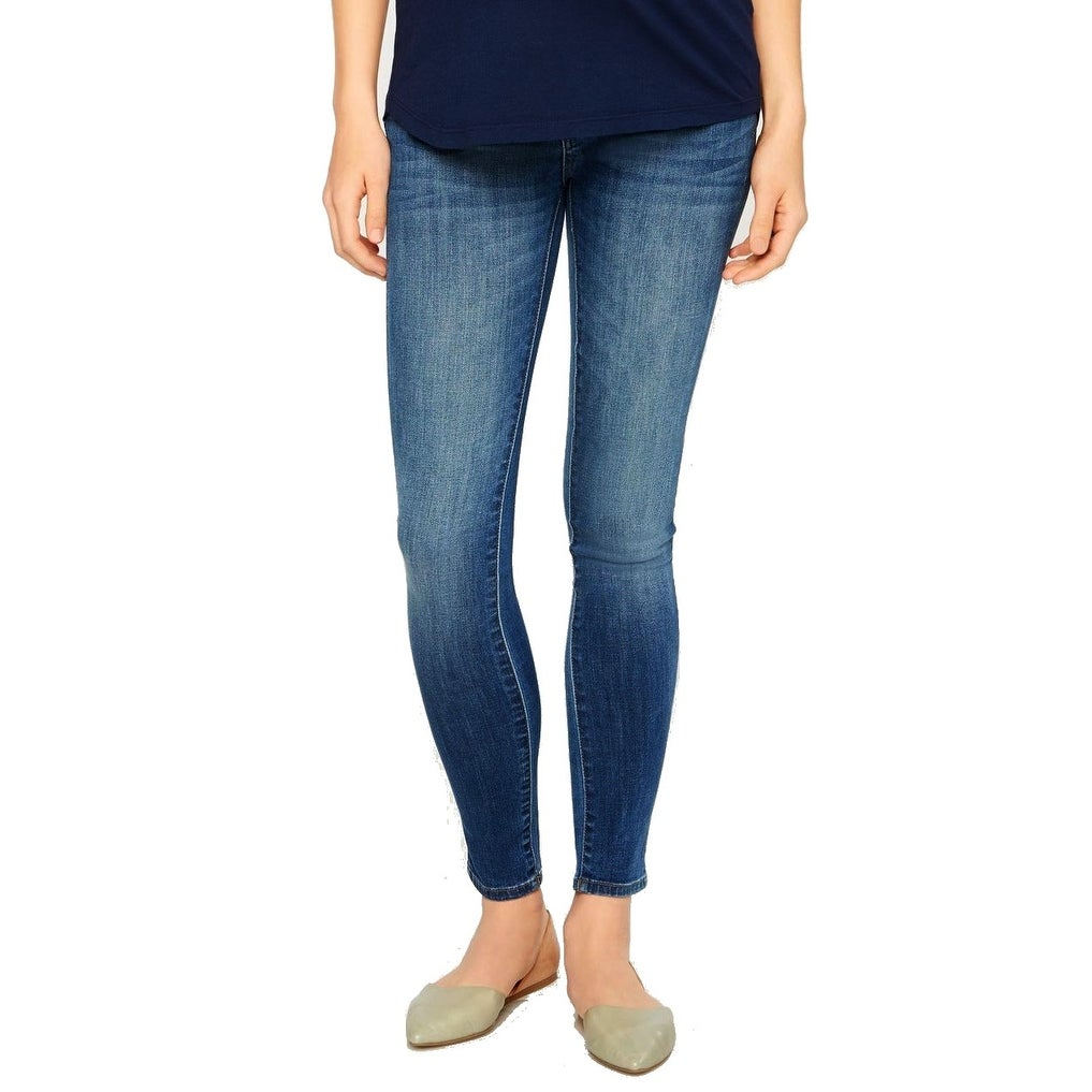 3a379aeeeddc2e Shop DL1961 NEW Erin Blue Womens Size 27 Pull-On Maternity Leggings ...