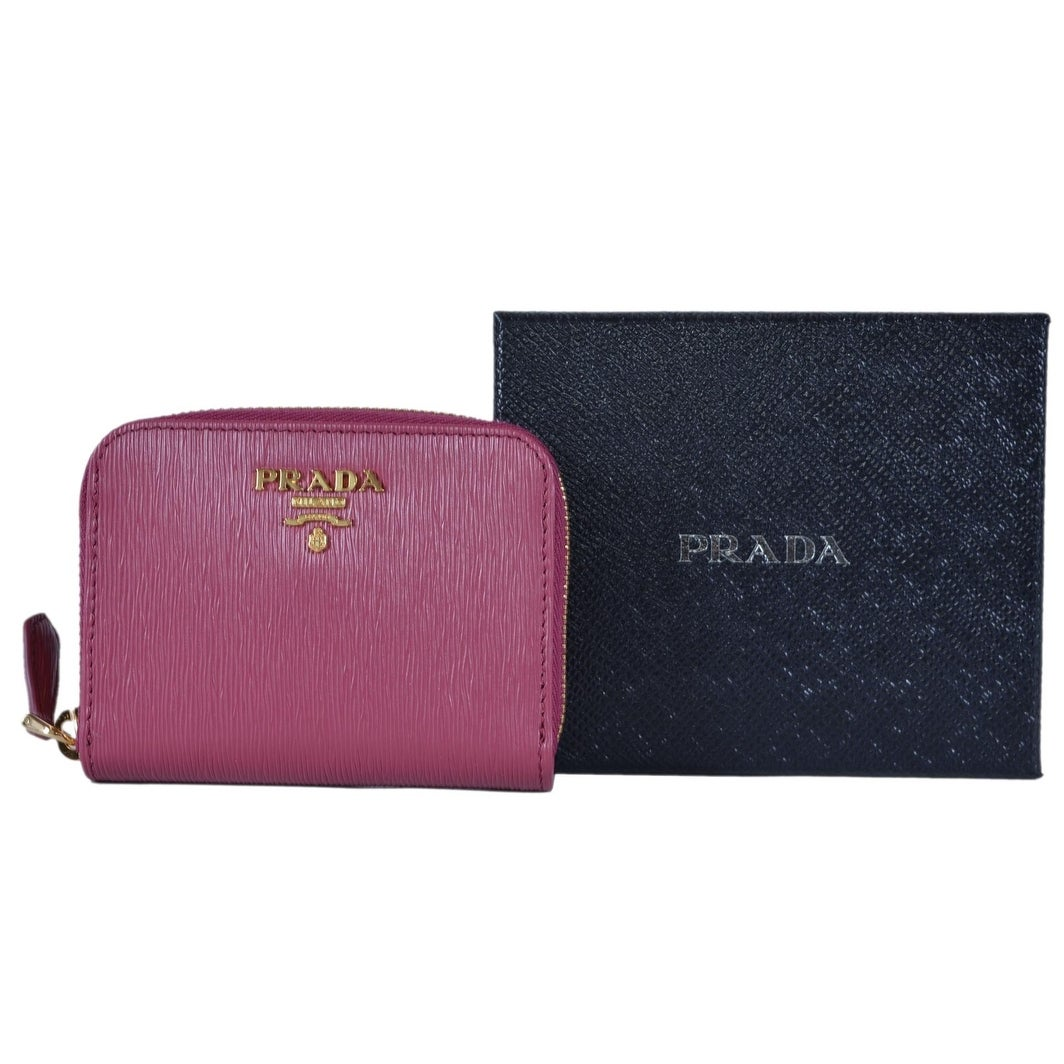 714d862d4847de Shop Prada 1MM268 2EZZ Ibisco Pink Saffiano Leather Zip Around Coin Purse  Wallet - Free Shipping Today - Overstock - 25686983