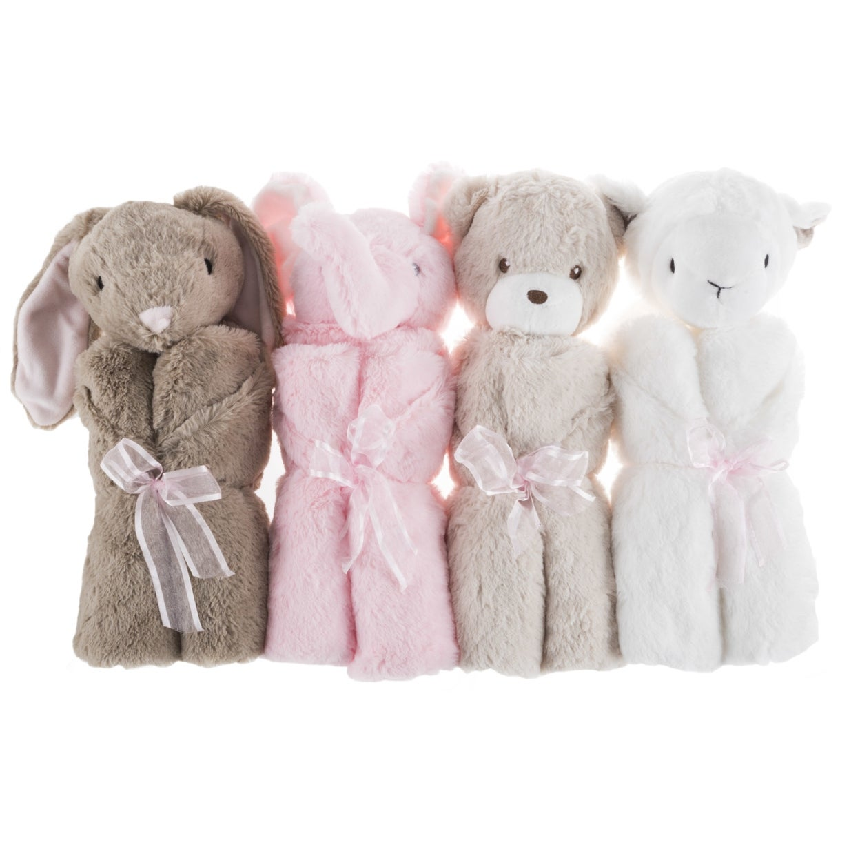 Brown Bunny Rabbit Baby Blanket And Stuffed Animal Toy