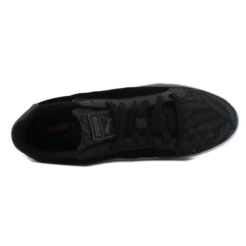 Shop Puma Match Swan Women Suede Black Fashion Sneakers