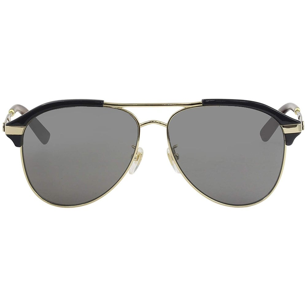 7ed844f02b Shop Gucci Grey-Silver Aviator Sunglasses Gg0288Sa-005 60 - BLUE-GOLD-SILVER  - One Size - Free Shipping Today - Overstock - 24266520