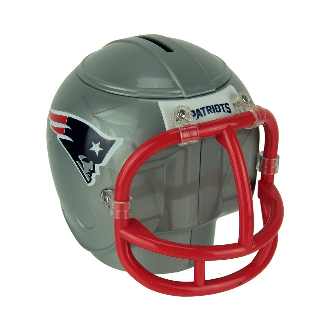 8874decf4e1877 NFL New England Patriots Mini Helmet Coin Bank - Gray - 4.75 X 5.5 X 4.5  inches