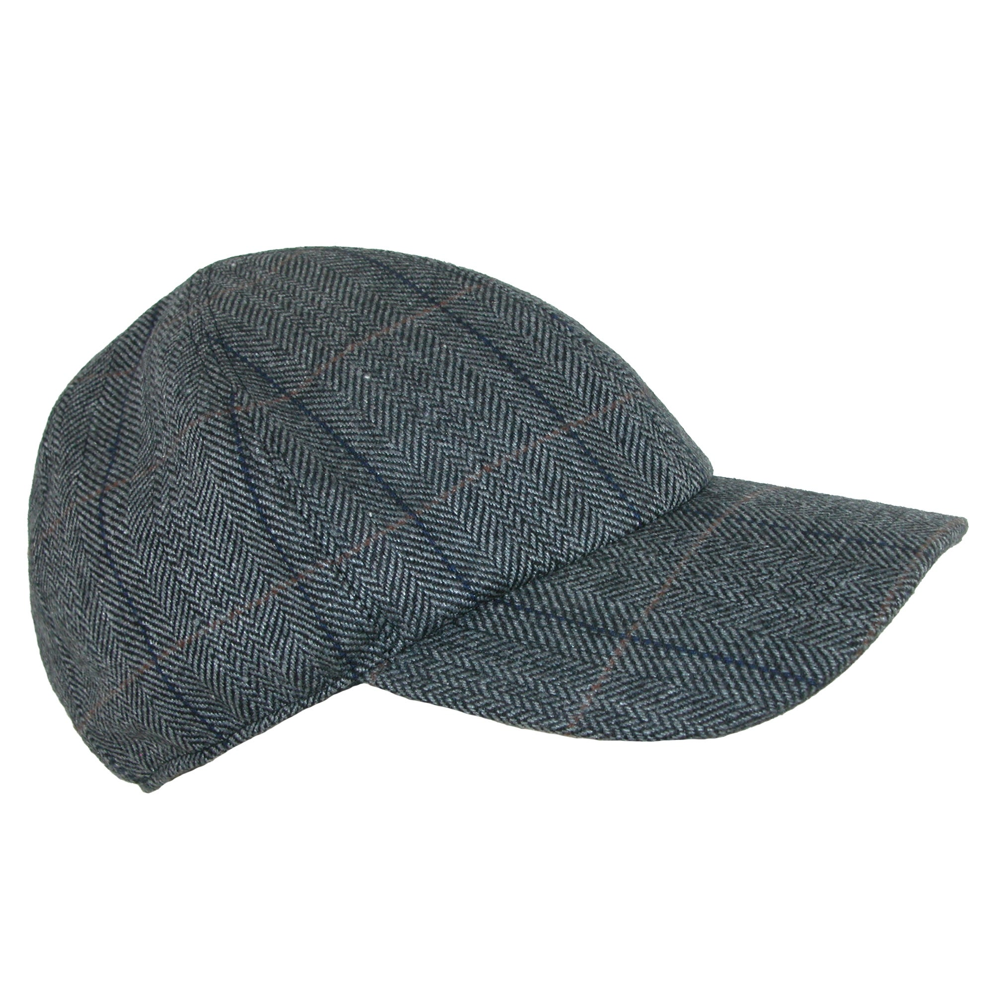Shop Broner Men s Herringbone Plaid Baseball Cap with Earflaps - Free  Shipping On Orders Over  45 - Overstock - 17654228 148dd2d6b2e2