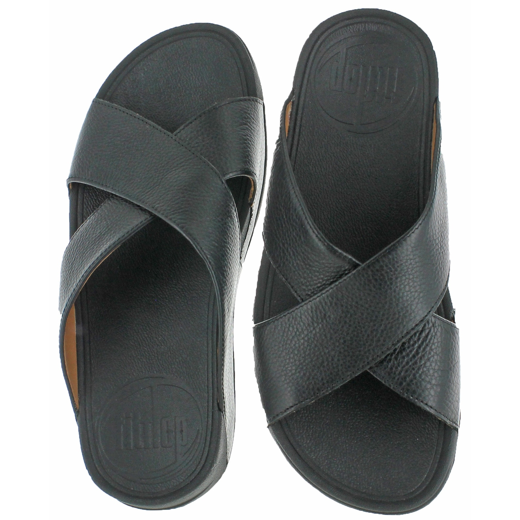 0dd573158b01 Shop FitFlop Xosa Men s Leather Criss-Cross Sandals - Free Shipping Today -  Overstock - 20636429