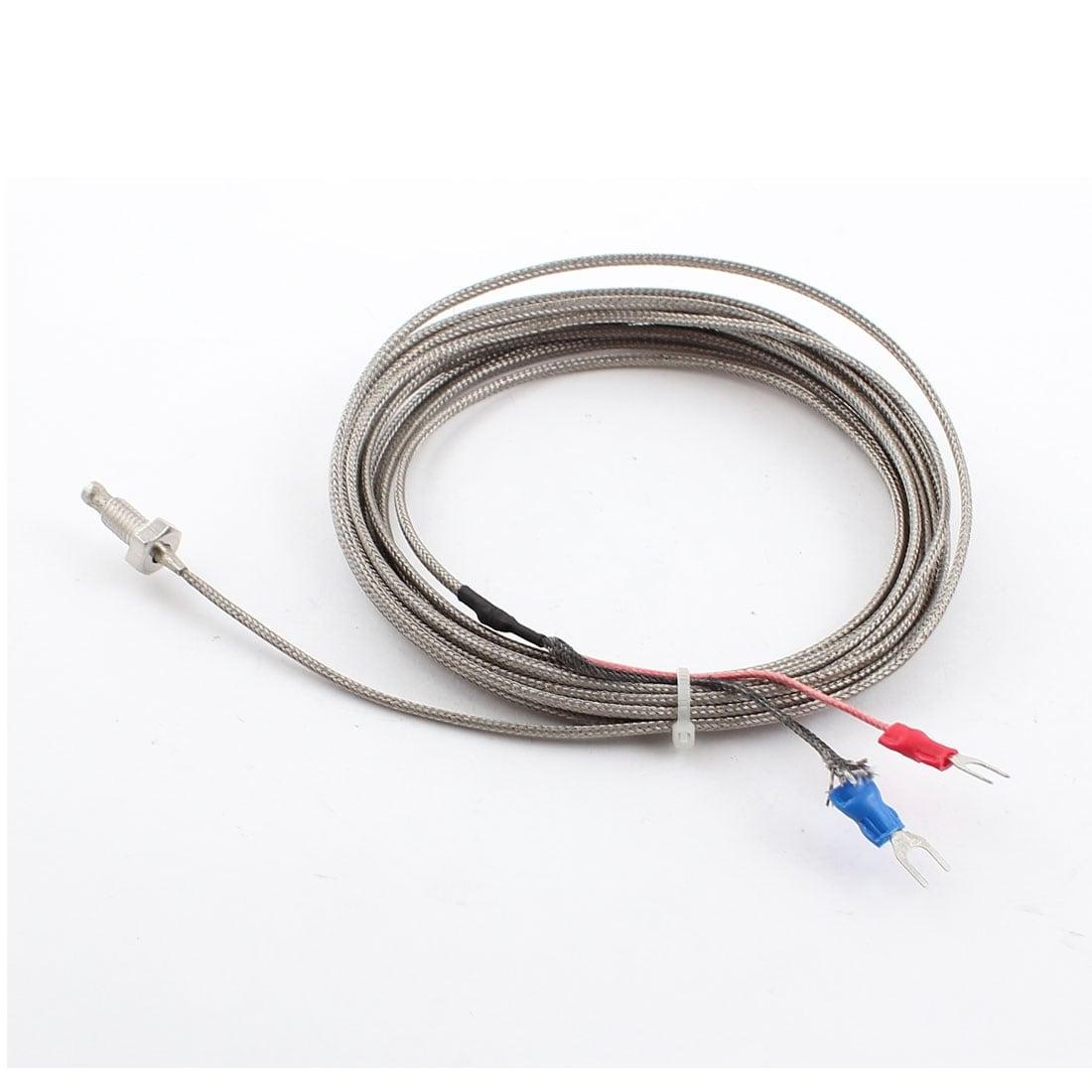 Shop 4m K Type Thermocouple Temperature Sensor Probe Wire 0-600C ...
