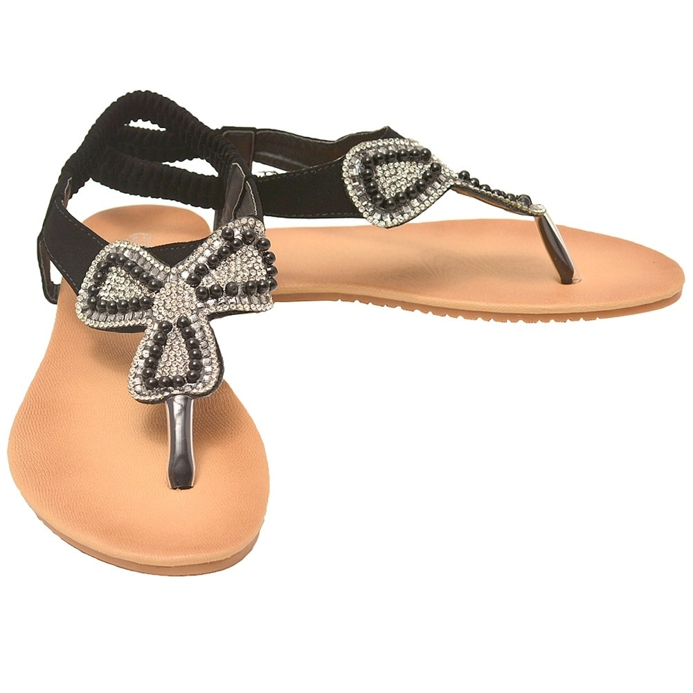 92875db3a Shop Lucita Adult Black Glitter Rhinestone Clover Flip Flop Sandals - Free  Shipping On Orders Over  45 - Overstock.com - 18823655