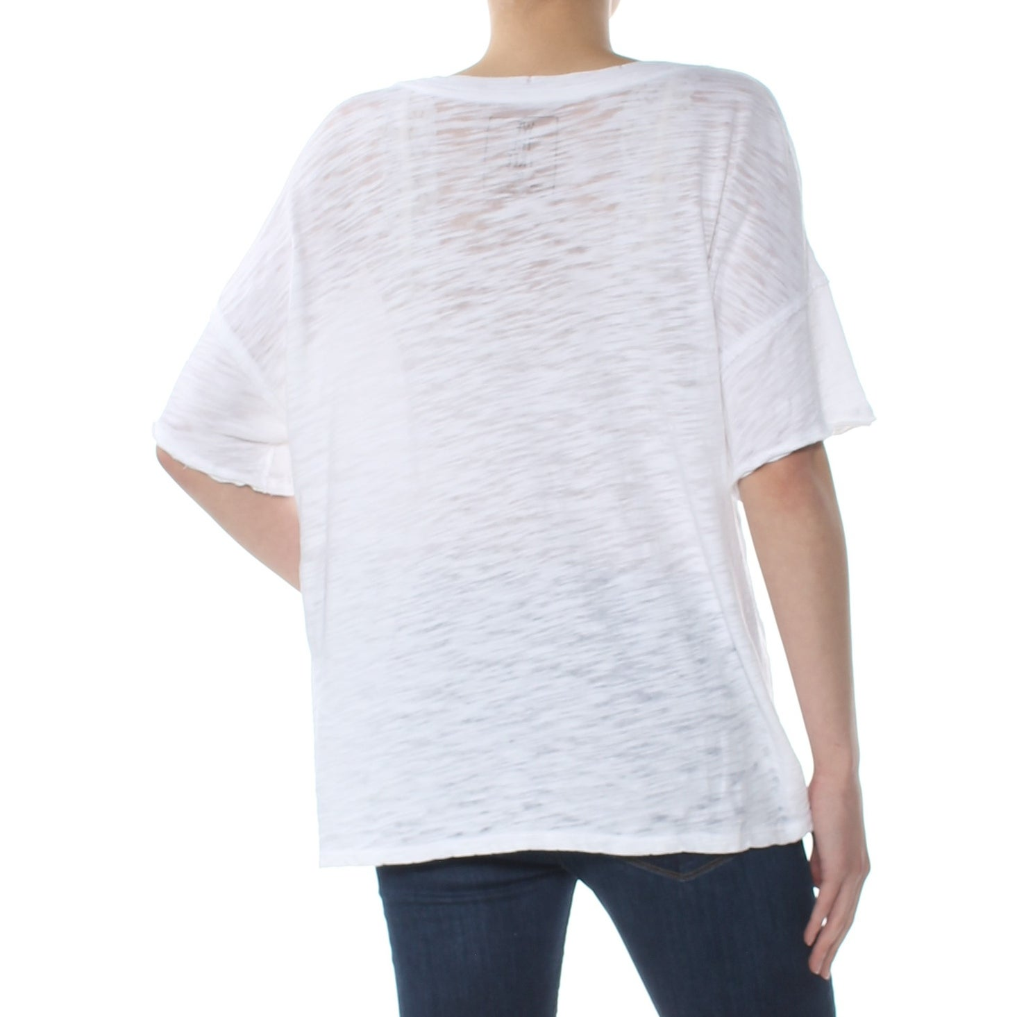 7b927eb6247b Shop FREE PEOPLE Womens White Jordan Tee Short Sleeve V Neck Top Size  M -  Free Shipping On Orders Over  45 - Overstock - 28036395
