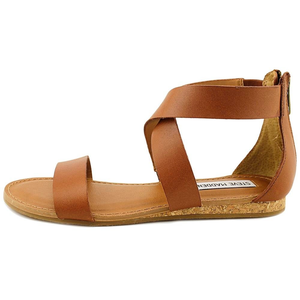 af05167fb707 Shop Steve Madden Halley Women Open Toe Leather Tan Gladiator Sandal - Free  Shipping On Orders Over  45 - Overstock - 19549267