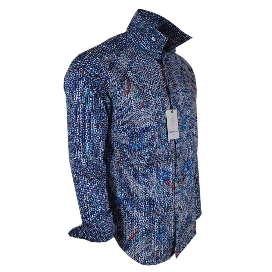 5a6e955fc2b Shop Robert Graham CARILLION Abstract Embroidered Button Down Sport Shirt -  Free Shipping Today - Overstock - 28226070
