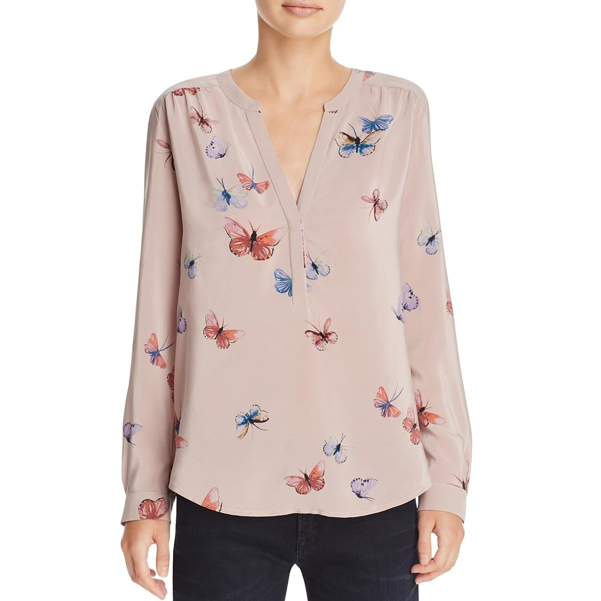 d3c8f16d0a38b Shop Joie Womens Blouse Silk Butterfly Print - Free Shipping Today -  Overstock - 18736770