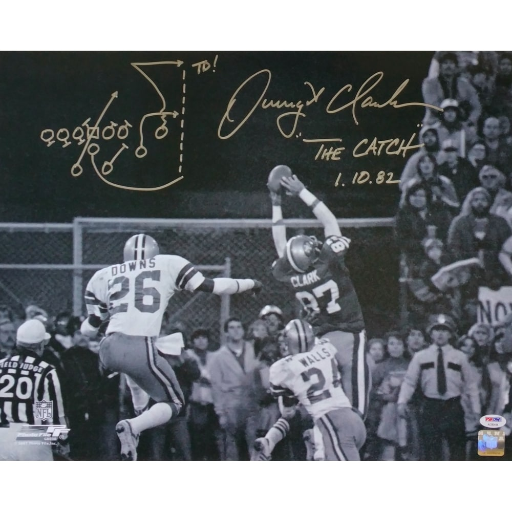 05a5f386328 Dwight Clark Signed San Francisco 49ers 16x20 The Catch Photo w  Play Drawn  PSA