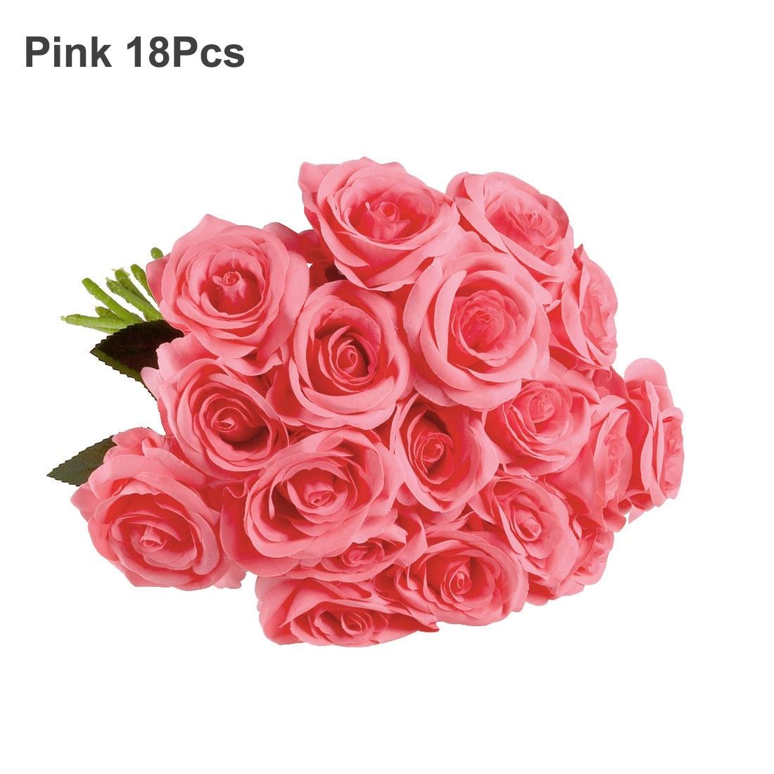 Shop Artificial Silk Rose Flower Bouquet Wedding Party Home Decor