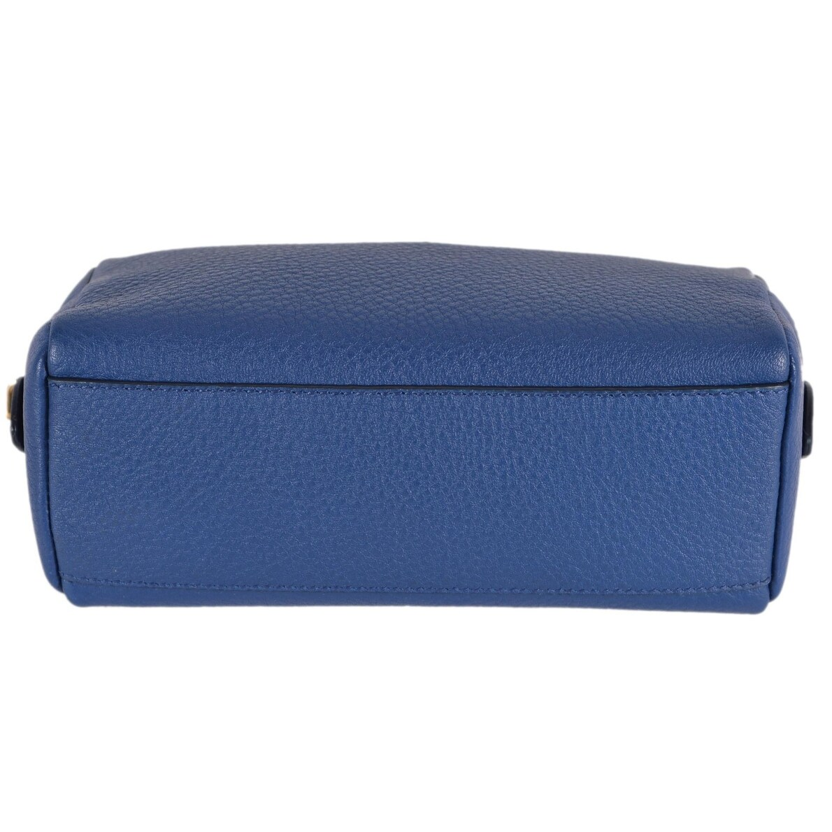 43790079a90e Shop Prada Women's 1ND004 Blue Textured Grain Leather Metal Logo Cosmetic  Bag - Free Shipping Today - Overstock - 26042991
