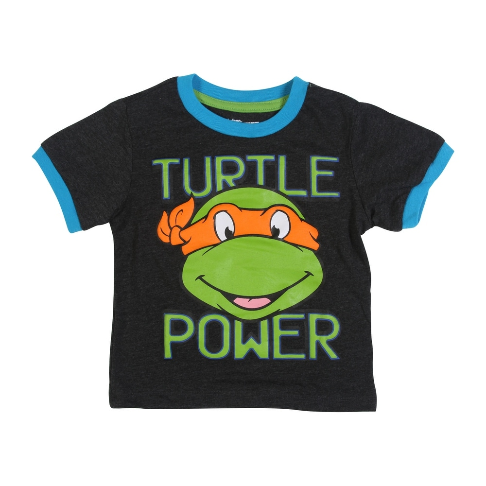 f4baff10 Shop Teenage Mutant Ninja Turtles Toddler Boys' Turtles Tee Shirt, Grey -  2T - Free Shipping On Orders Over $45 - Overstock - 22809673