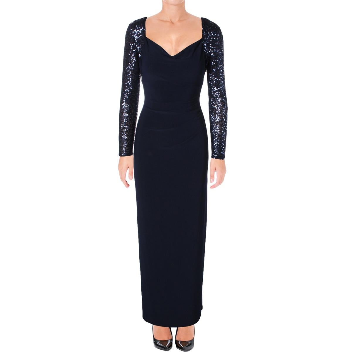 Shop Lauren Ralph Lauren Womens Formal Dress Sequined Gathered - Free  Shipping On Orders Over $45 - Overstock.com - 18403174