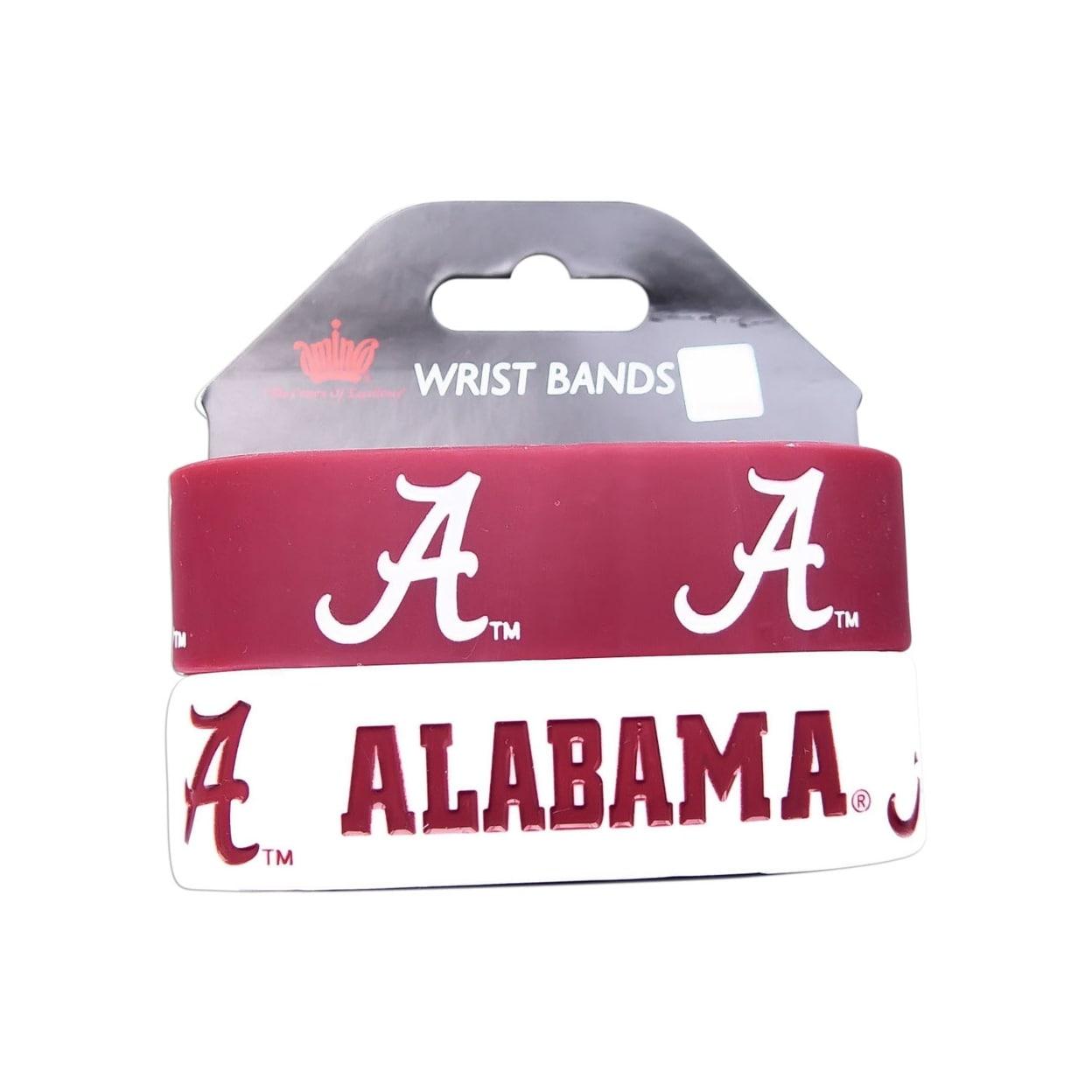 Alabama Tide Rubber Wrist Band (Set of 2) NCAA