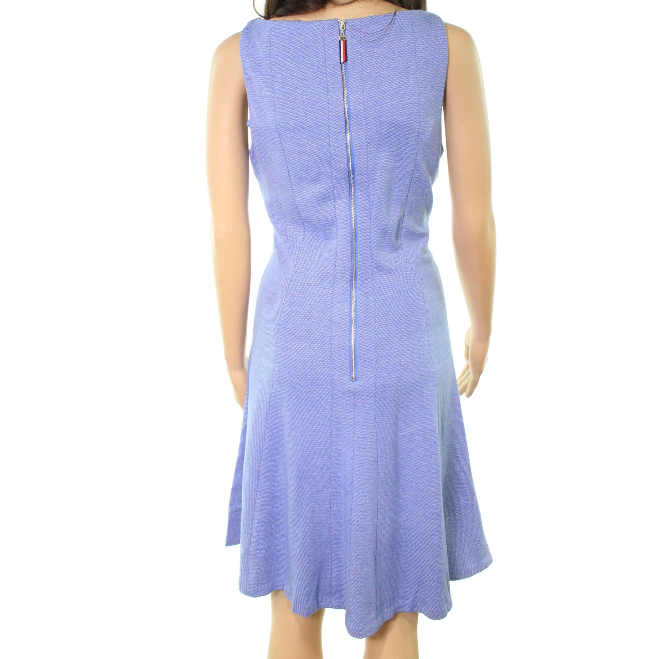1eaa04aaa2 Shop Tommy Hilfiger NEW Blue Women s Size 12 Seamed Knit Skater Dress -  Free Shipping Today - Overstock - 21595056